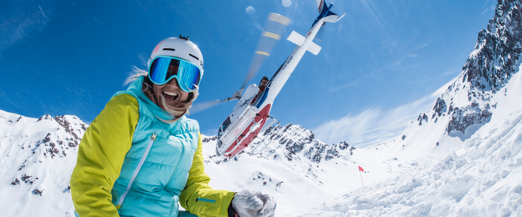 Heli Ski in the Andes Mountains